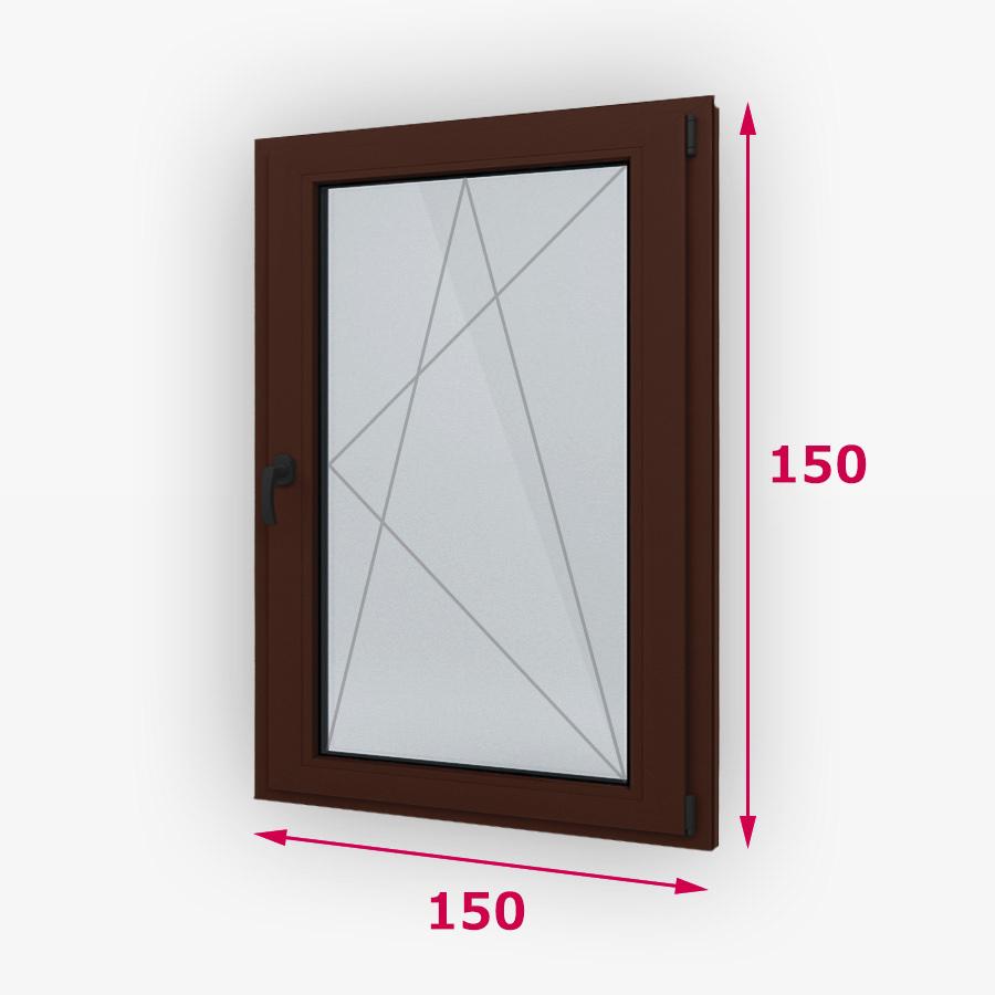 Havárie-iný typ drevene okna 150x150cm