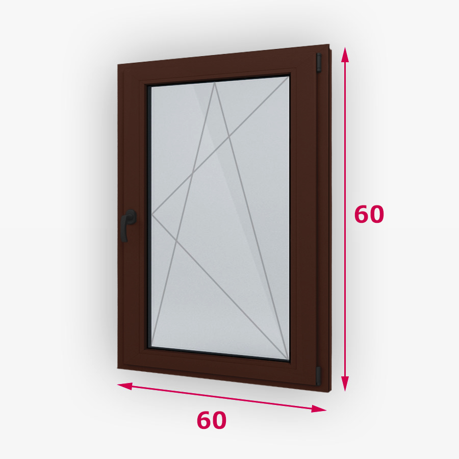Havárie-iný typ drevene okna 60x60cm