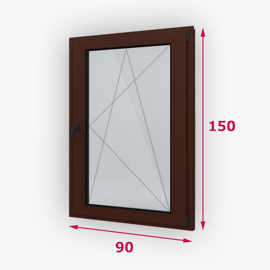 Havárie-iný typ drevene okna 90x150cm