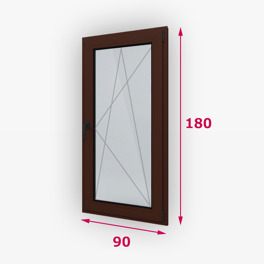 Havárie-iný typ drevene okna 90x180cm