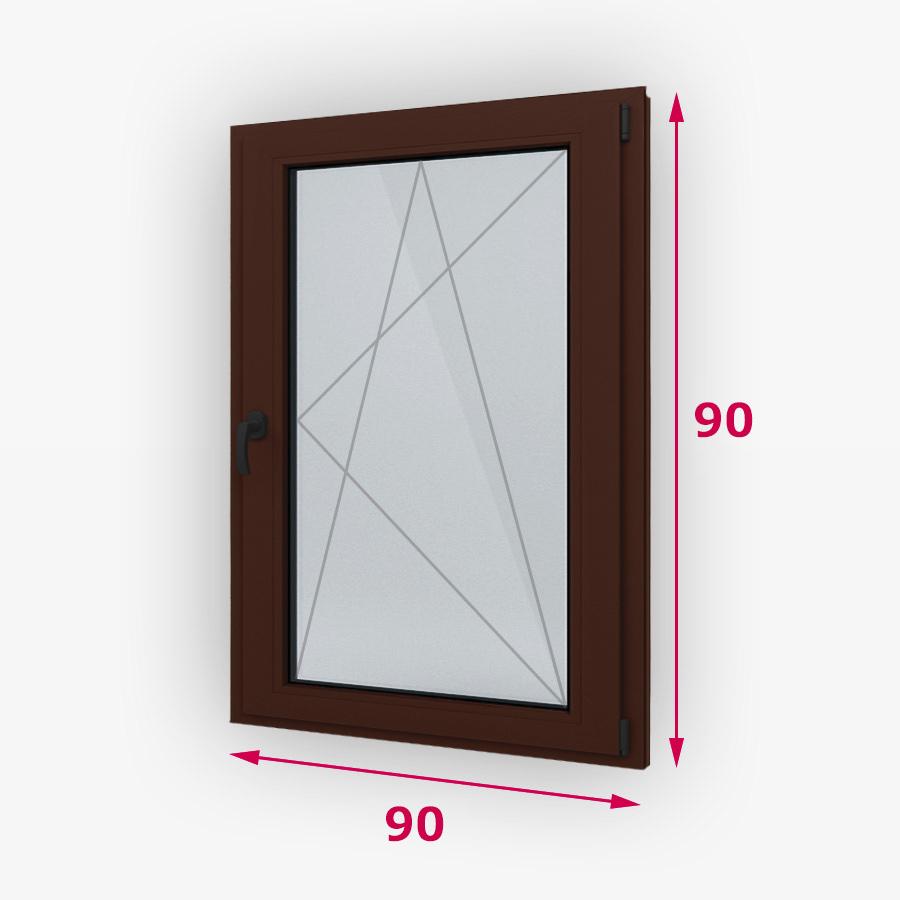 Havárie-iný typ drevene okna 90x90cm