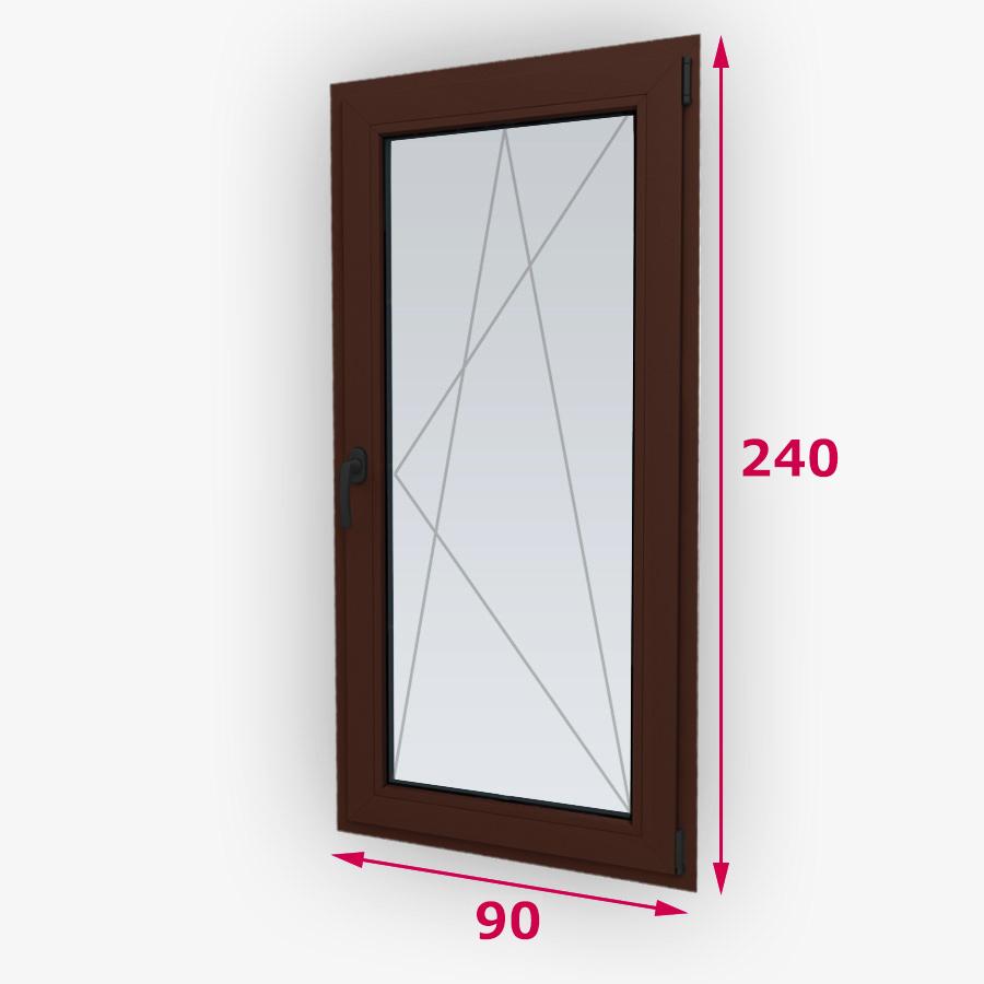 Havárie-iný typ drevené balkónové dvere 70x240cm