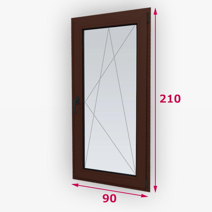 Havárie-iný typ drevené balkónové dvere 90x210cm