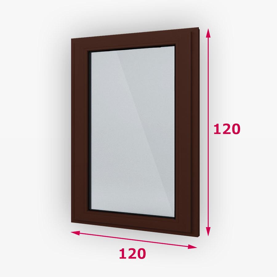Pevná drevene okna 120x120cm