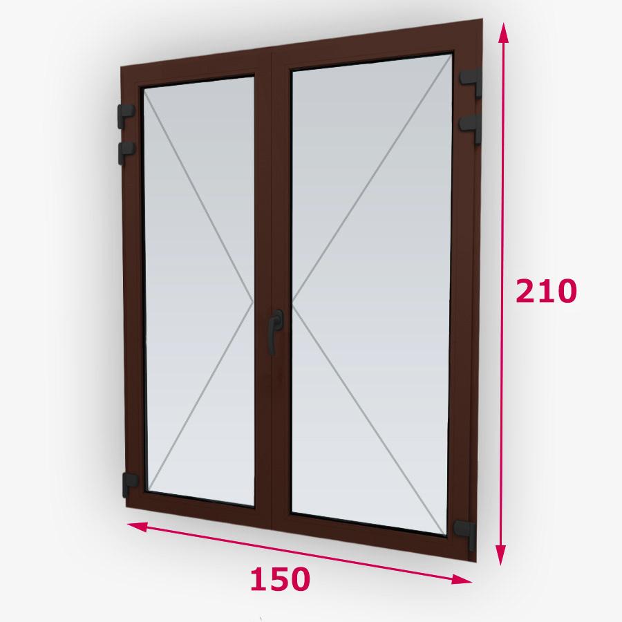 Centrálne-iný typ drevené balkónové dvere 150x210cm