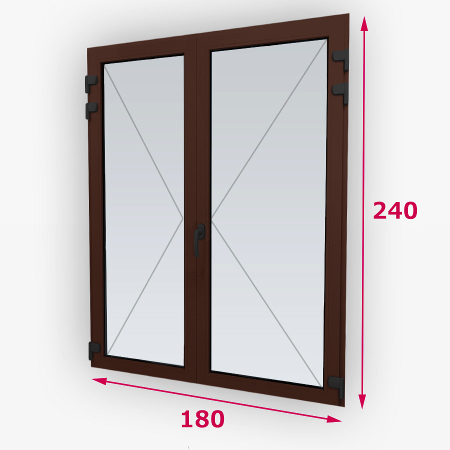 Centrálne-iný typ drevené balkónové dvere 180x240cm