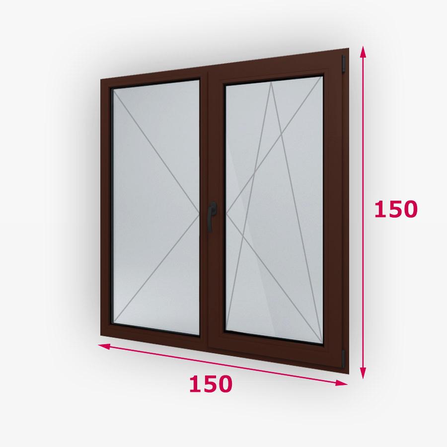 Centrálne-iný typ dvojité drevene okna 150x150cm